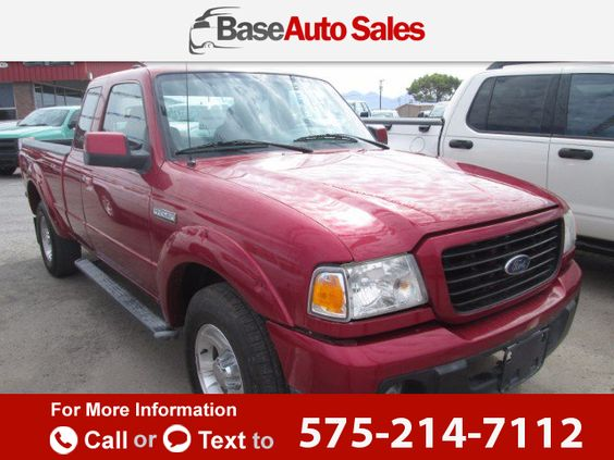 2008 *Ford*  *Ranger* *Sport* *SuperCab* *2WD*  106k miles $11,500 106171 miles 575-214-7112 Transmission: Automatic  #Ford #Ranger #used #cars #BaseAutoSales #LasCruces #NM #tapcars