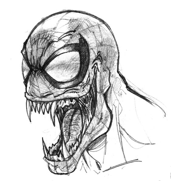 Spiderman Face Line Drawing : Venom pencil drawings and on pinterest