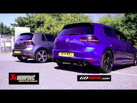Best Sounding Golf R Mk7 Exhaust Apr Vs Akrapovic Youtube Golf R Mk7 Audi Rs3 Golf