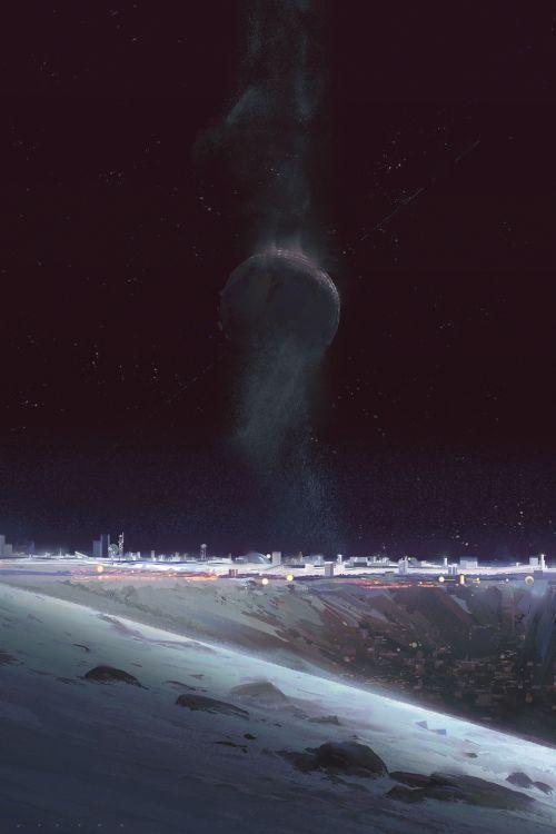 """victormosquera:Cover I painted for Ian McDonald's book """"Luna New..."""