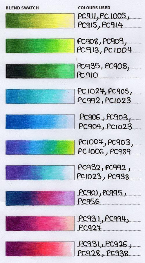 Printable Colour Combination Tracker Dream Life By Design Blending Colored Pencils Color Pencil Art Color Pencil Drawing