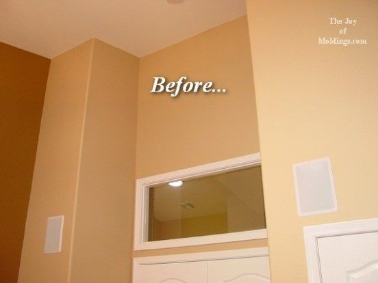 Home Office Crown Molding Buildup Before Crown Molding Cathedral Ceiling Diy Crown Molding
