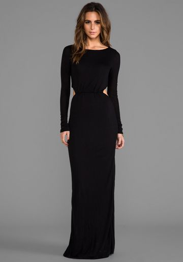 PENCEY STANDARD EXCLUSIVE Long Sleeve Open Back Maxi Dress in ...