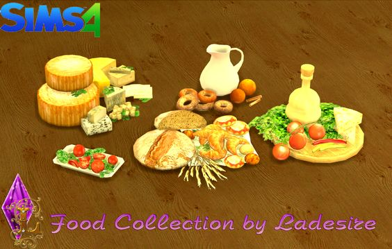 Ladesire's creative corner : TS4 - Food Collection by Ladesire