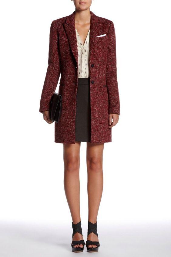 Set online store - Coat/Outdoor - Red Grey