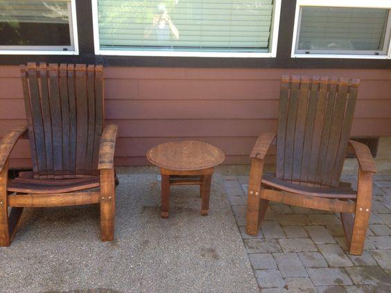 Adirondack Chair Plans Adirondack Chairs And Wine Barrels