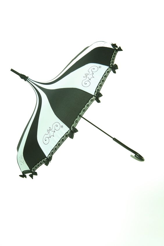 Umbrella Black & White by HilarysVanity on Etsy https://www.etsy.com/listing/178964515/umbrella-black-white