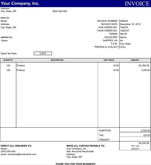 Service Invoice Templates Templates\Forms Pinterest - freight invoice template