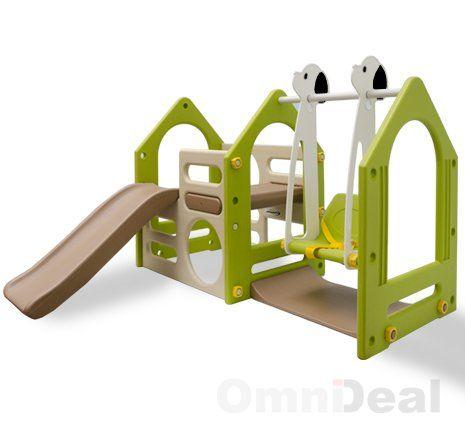 Maison pour enfants avec toboggan et balan oire ks 111 jeux et jouets ab h pinterest - Maison enfant avec toboggan ...