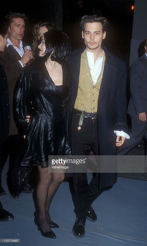 Winona Ryder and Johnny Depp during 'Edward Scissorhands' Premiere in Los Angeles, California, United States.