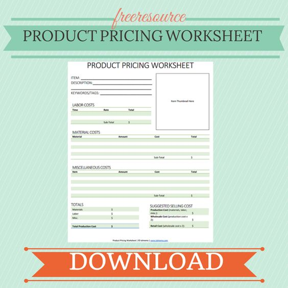 Product Pricing Worksheet Business Budget Template Product Pricing Worksheet Craft Pricing Calculator