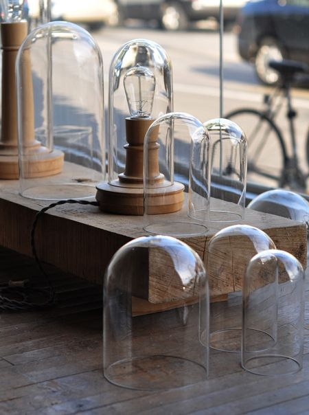 Wooden Lights for an office, small space, or bedroom.
