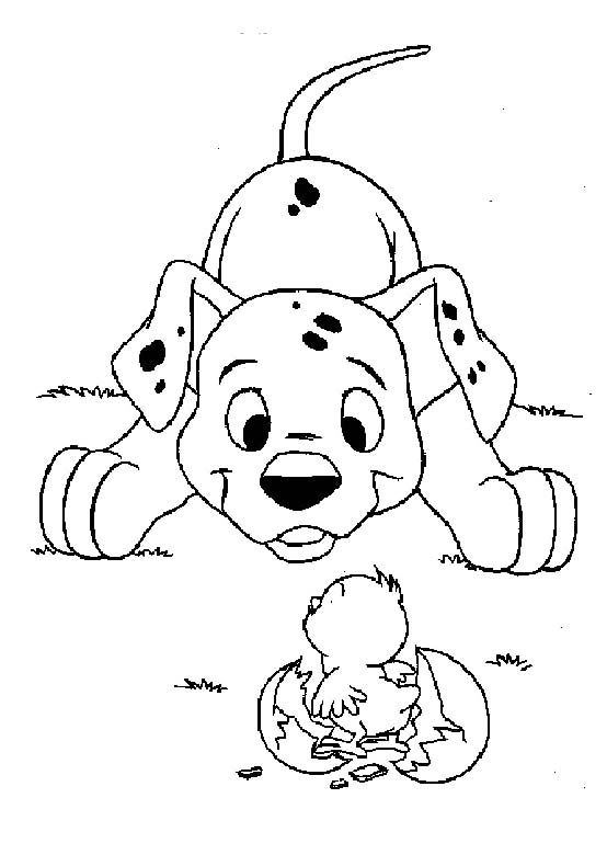 dog dalmatian see little chicken coloring pages dalmatians coloring pages kidsdrawing free coloring