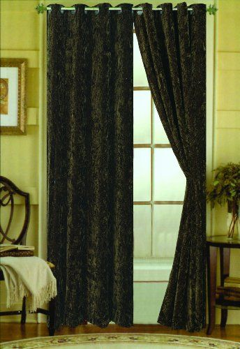 Curtains Ideas black velour curtains : Batty Skulls Lace Curtain Panel: Elegant vintage Victorian style ...
