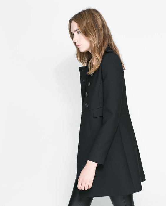 Image 2 of DOUBLE BREASTED TWILL COAT from Zara