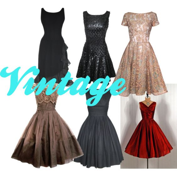Vintage Cocktail Dresses, created by indiestar2015 on Polyvore