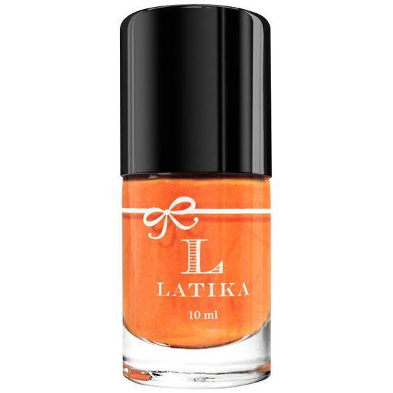 Esmalte laranja com acabamento cremoso. Com tonalidade laranja  intensa, transmite boas energias e disposição. Tem cobertura cremosa, uniforme e lisa, com acabamento brilhante