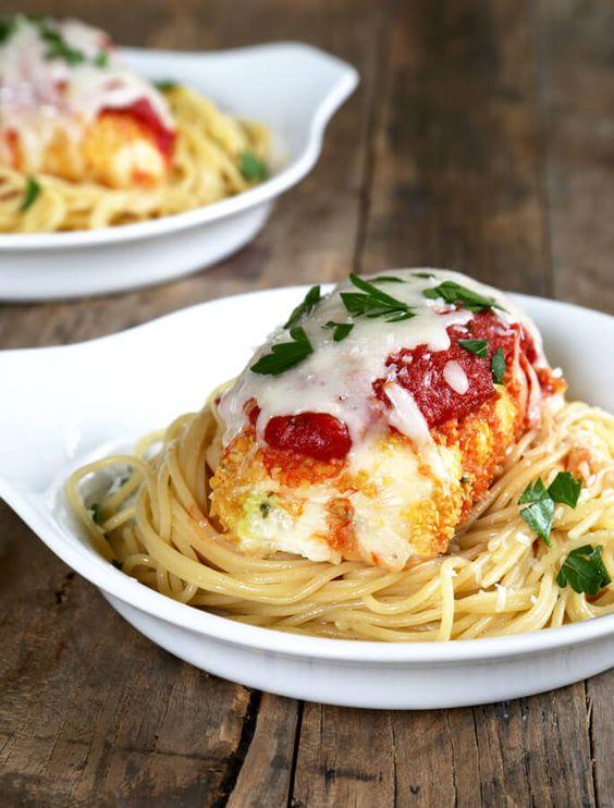 Gluten-Free Zucchini Chicken Parmesan Bundles