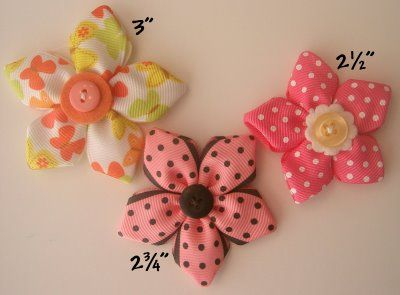 Ribbon Flowers by MakeBowsandMore.com