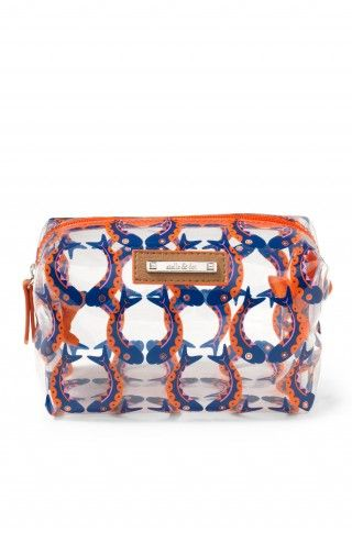 Stella & Dot Pouf - Marine Blue/Orange Fishtails - Benefits Autism Awareness!!: