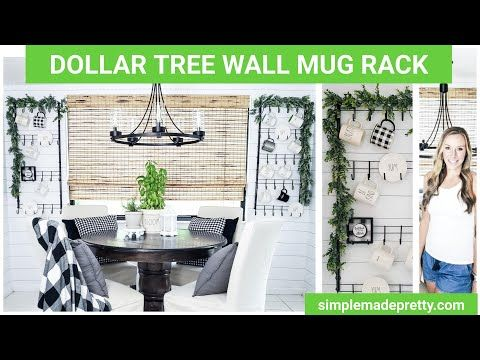 It This Is The Shiplap Peel And Stick Wallpaper That I Used In Our Kitchen I Ve Had Many Inquiries About This Wallpa Mug Rack Mug Display Farmhouse Mugs