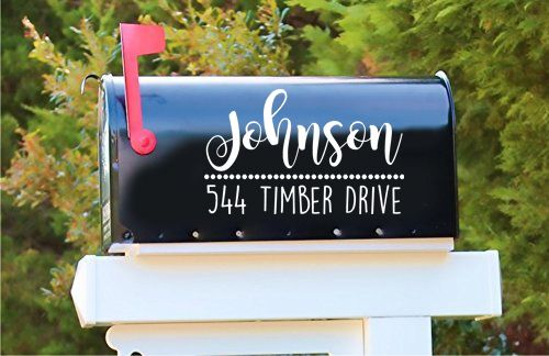 Add Some Personalization To Your Mailbox Mailbox Decals Mailbox Decor Personalized Mailbox