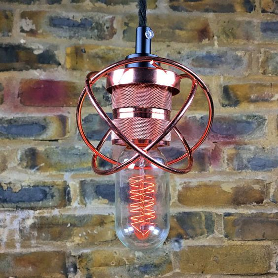 The Copper Atom Copper Lighting, Pendant Light.  This is Industrial Lighting in…