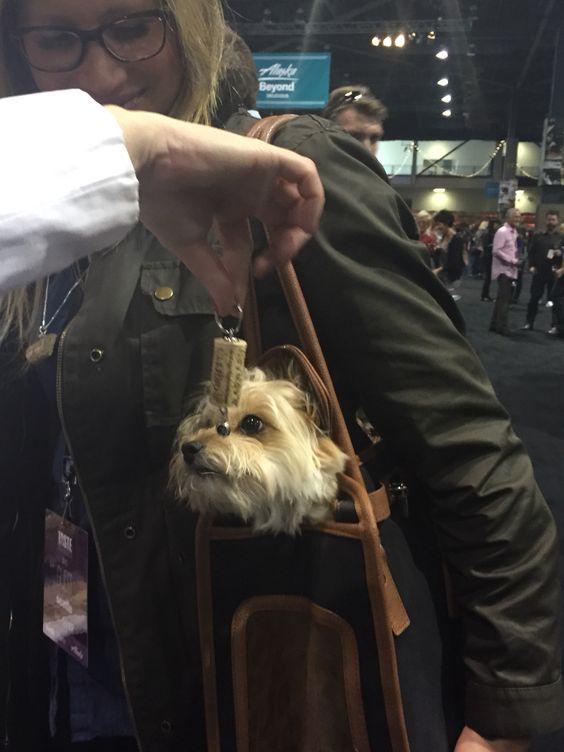 Wine Doggies  Dog cork keychain