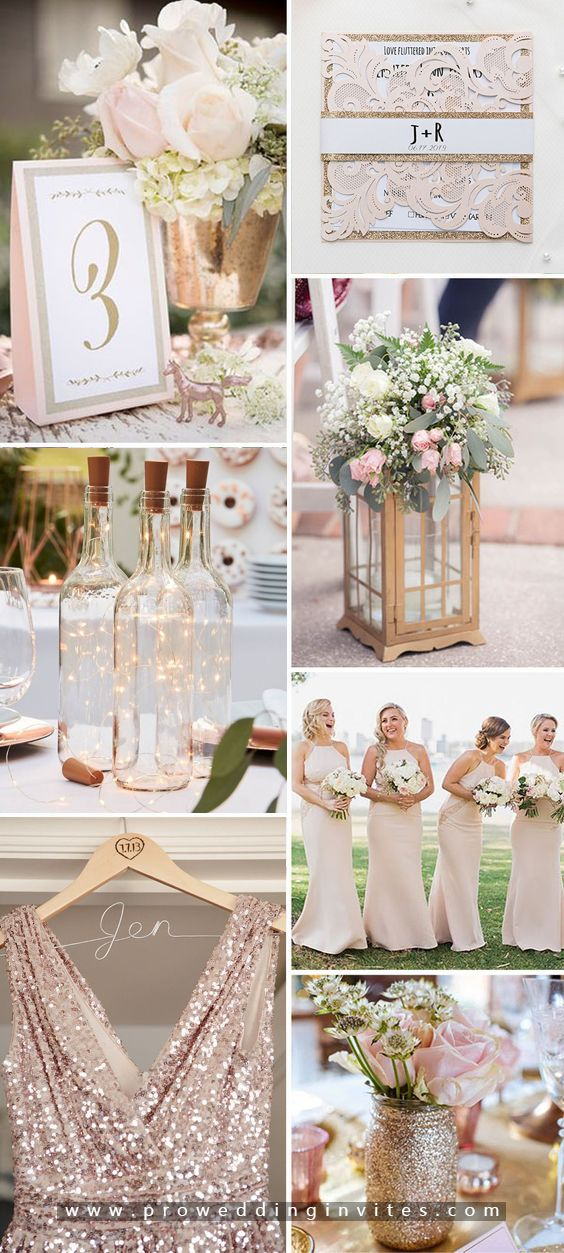 The Best Gold Wedding Colors Combos for 2021: Gold + Peach