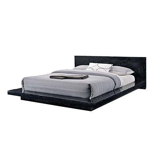 Furniture Of America Crownen Modern Cal King Bed In Black With