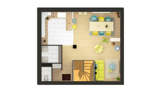 Plan maison 72m2, 3 chambres gratuit  plan n°138 CGIE Plan de