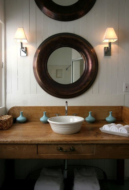 Vanities Rustic bathroom vanities and Sinks on Pinterest