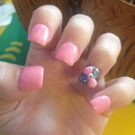 Barbie nails: Makeup Nails, Gettin Nailed, Barbie Nails, Nails Makeup, Pretty Nails, Nails Hair, Hair Nails, Sweet Nails, Nailssssss 3