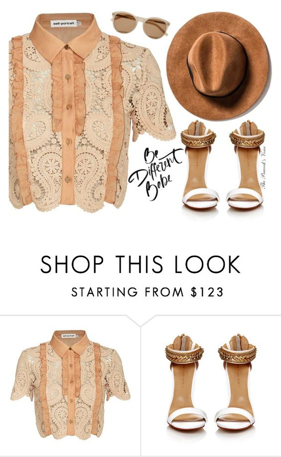 """Be Different Babe"" by fra3 ❤ liked on Polyvore featuring self-portrait, Yves Saint Laurent, boho, bohochic, freesoul and Coachella16"