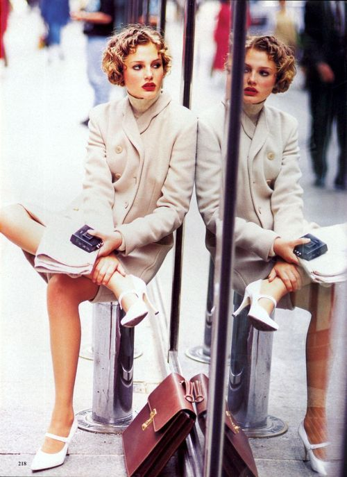 'Top Coats' from…………..Vogue August 1994 feat Shalom Harlow Bridget Hall