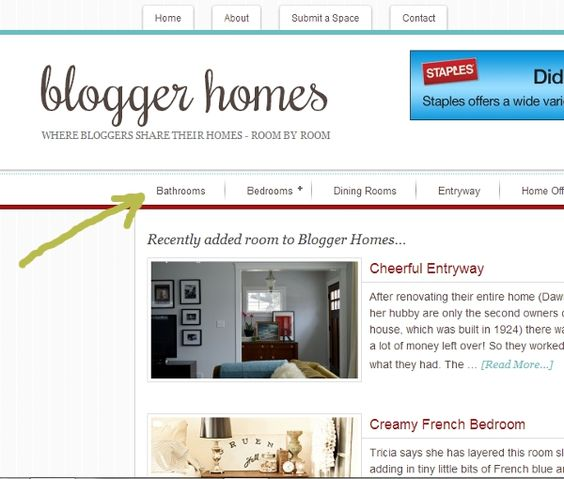 Blogger Homes - get ideas or submit your own room/house