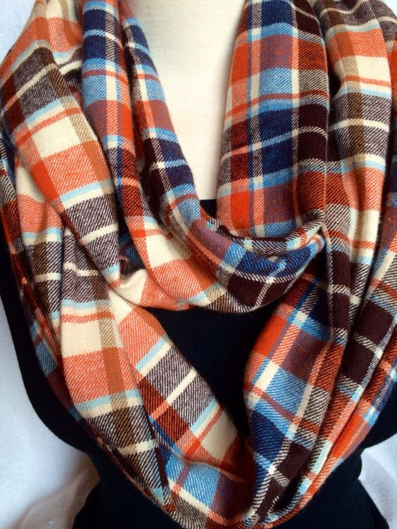 A personal favorite from my Etsy shop https://www.etsy.com/listing/212990223/flannel-infinity-scarf-circle-scarf