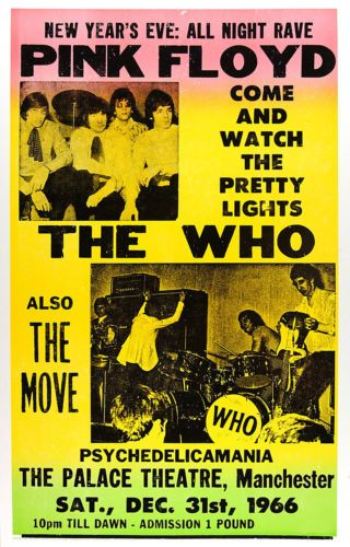 Pink Floyd, The Who, The Move - Manchester Palace Theatre