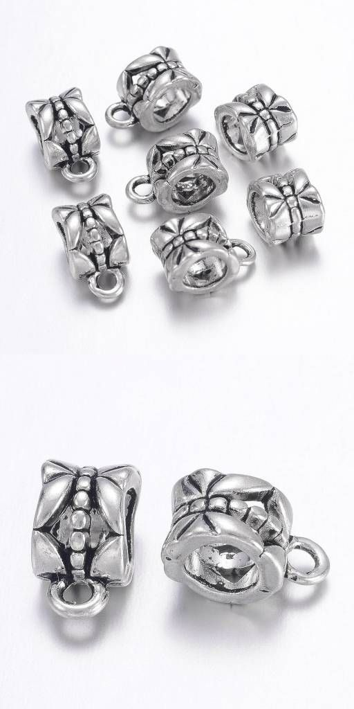20PCS Tibetan silver earring findings connector fit charms jewellery making