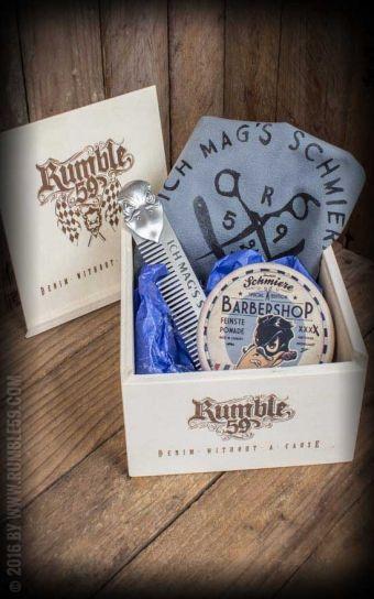 Rumble59 - Schmiere Geschenkset - Ich mag's schmierig - Pomade knüppelhart #rockabillyrules #pomade #schmiere