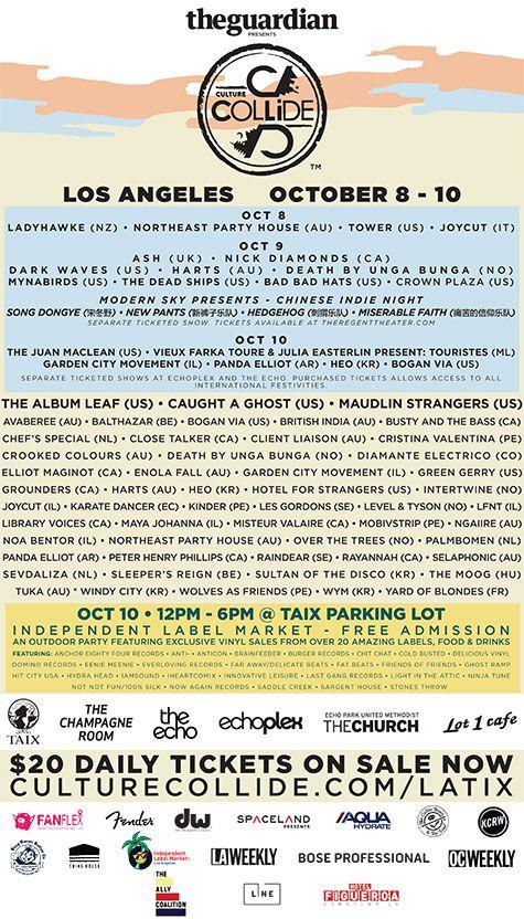 10/8-10/15  LA Tickets : Festivals : Culture Collide