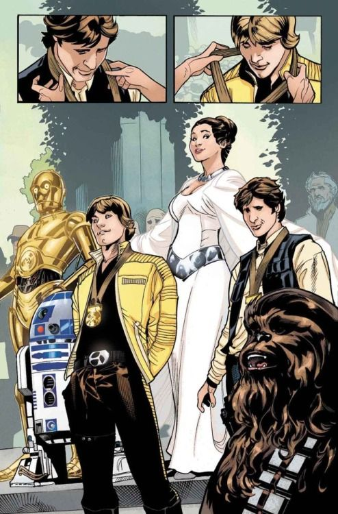 Preview to Princess Leia #1, art by Terry Dodson