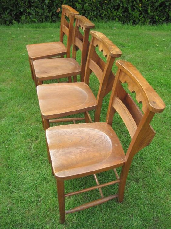 65 Reclaimed Antique Victorian Church Chairs Church Used Old Kitchen Chairs Seats Wooden