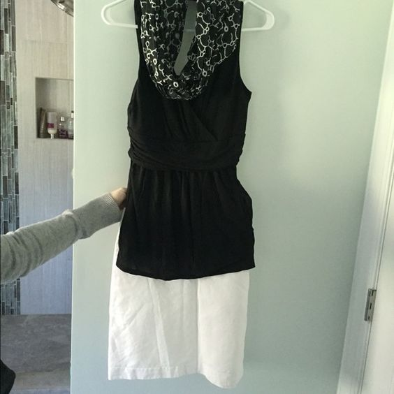 Summer outfit bundle Cute summer outfit!  All pieces also listed separately. Big savings when purchased together!  Only $15 for complete outfit. Top NY&co new w tags. Size small. Skirt is lined linen size 4. Infinity scarf has never been worn. All items new or new condition. Other