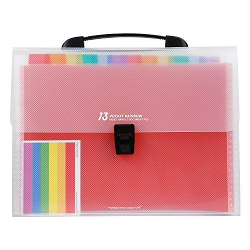 13 Pockets A4 Expanding File Folders Organizer With Handle Labels Portable Large Accordion File File Folder Organization Folder Organization Document Folder