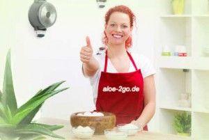 Aloe Vera Gel auf Birnenkuchen - köstlich! Rezept: http://www.aloe-vera-gratisproben.de/aloevera-gel-kuchen/
