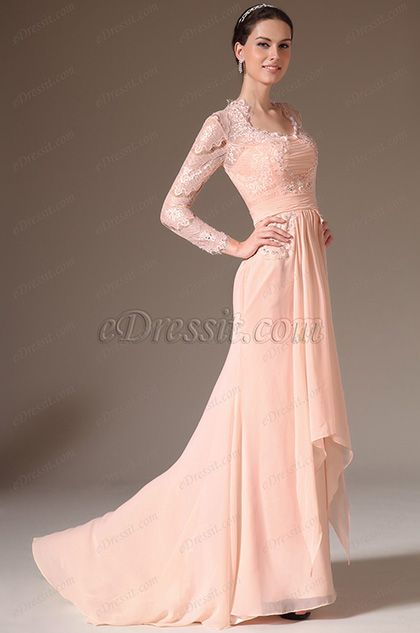 eDressit 2014 New Pink Lace Top Long Sleeves Mother of the Bride Dress (26145601) #edressit #fashion #dresses #eveningdresses #motherofthebridedresses #longsleevesgowns #pink #formalwears