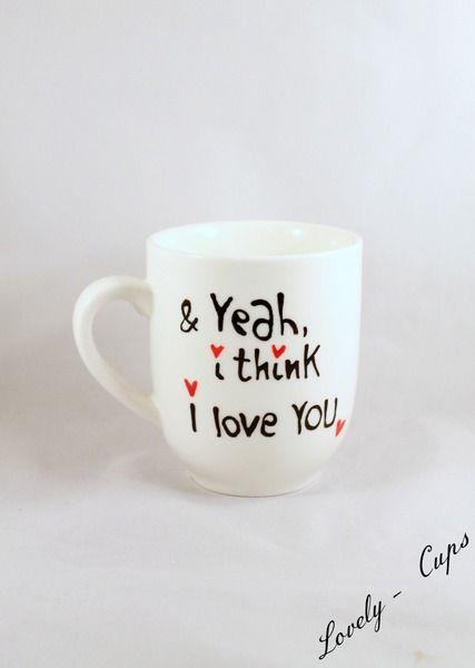persönliches Verlobungs- Liebes-Geschenk Tasse von Lovely-Cups auf DaWanda.com
