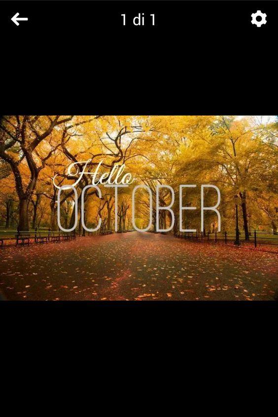 #benvenuto #ottobre
