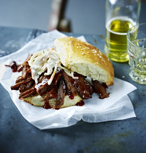 Tom Kerridge calls this beef version of pulled pork the 'ultimate sandwich'. It takes a while, but is worth the wait